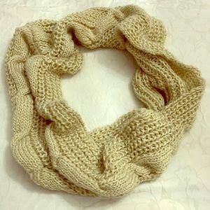 Cozy beige scarf